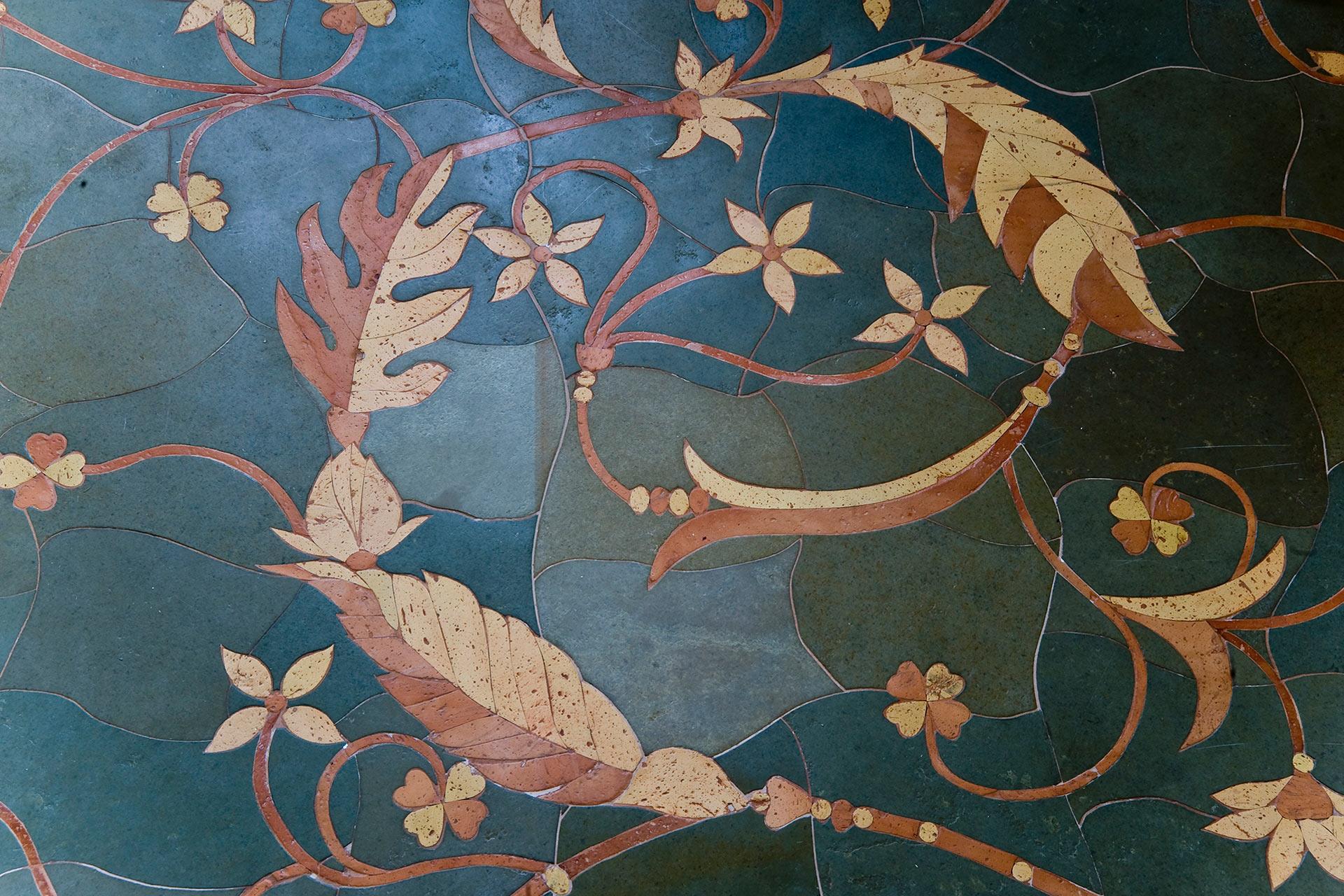 Badausstellung vivante Design - Naturstein Intarsien Schiefer Terracotta