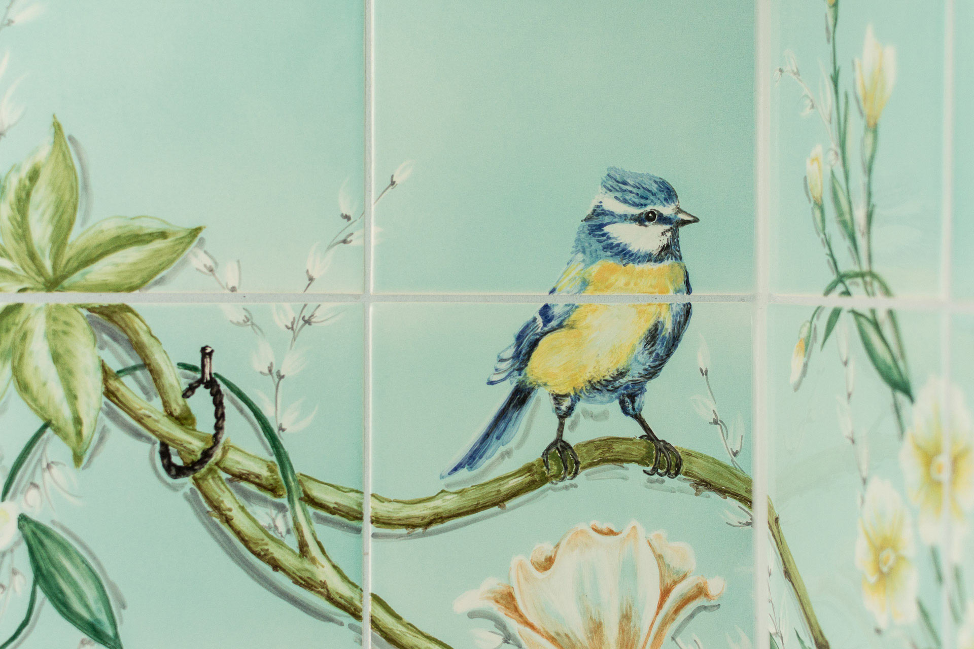 handbemalte Fliesen vivante Ceramica Blu Italien