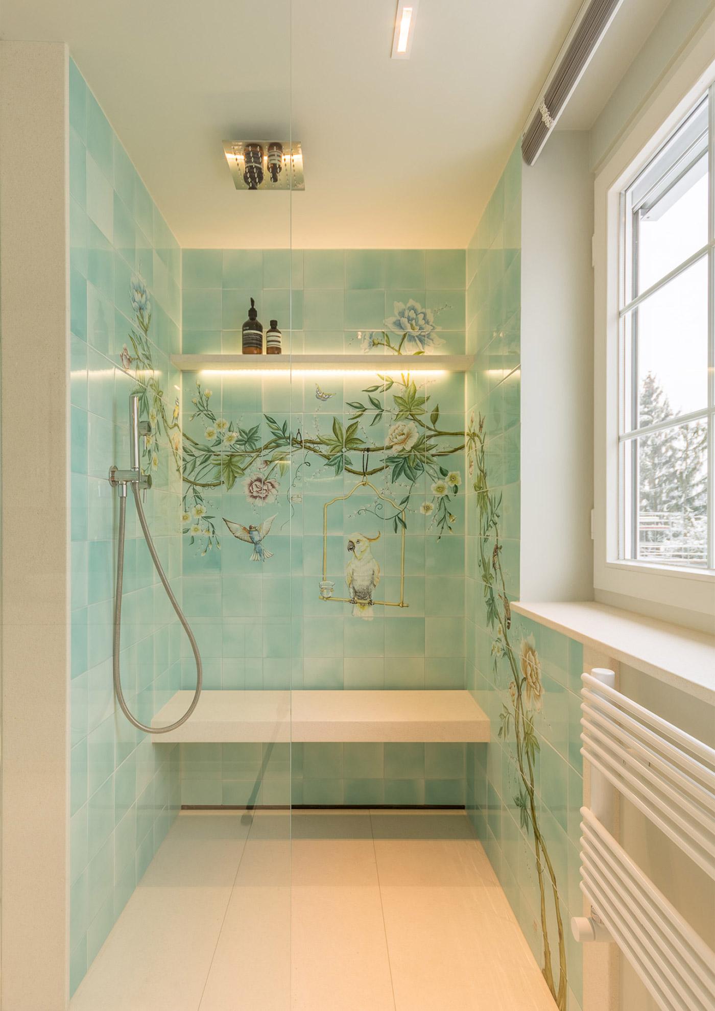 Dusche mit vivante Rinne VIRUN