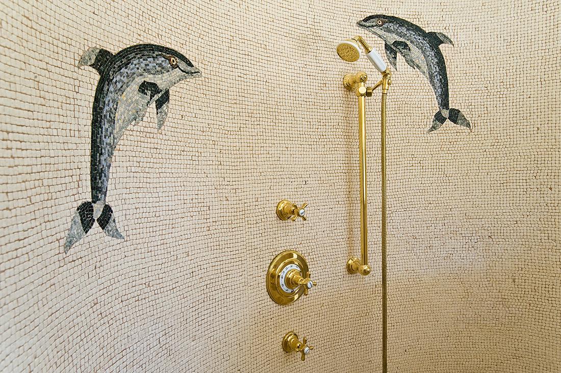 Delfine Mosaik Handgezwickt